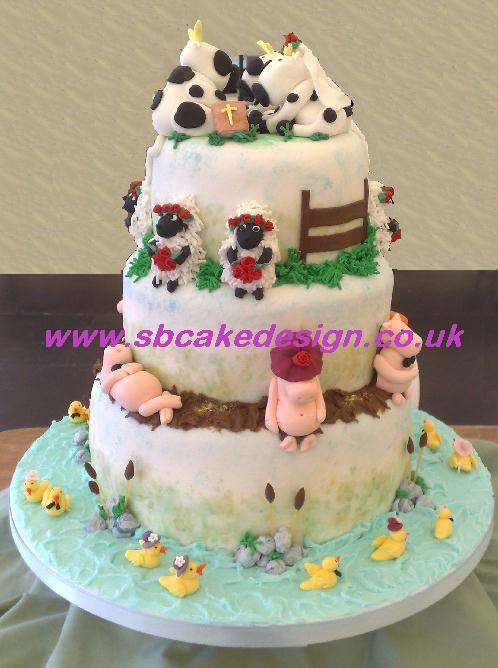 Stacked Wedding Cakes Pictures